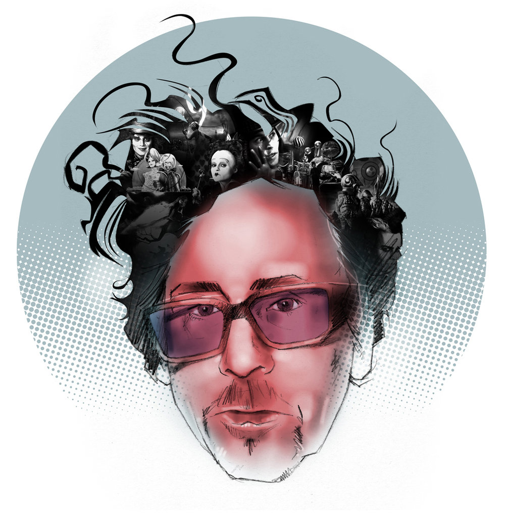 Tim Burton portrait
