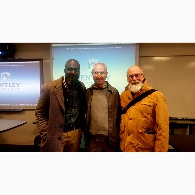 Two retail pioneers for whom I have so much respect and admiration.  It was an honor and a privilege to have been invited to @retailconcepts class @bentleyu to discuss retail and marketing alongside the iconic @drinkwaterscambridge  #InTheCode  #frankandoak #retailconcepts  #drinkwatercambridge #bentleyuniversity