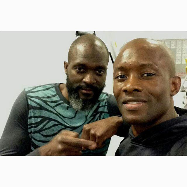 Post workout with little bro @wilnortereauofficial  #inthecode  #tailoryourlife  #runforhaiti  #sonsoftoussaintlouverture