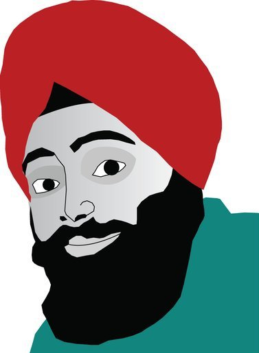 "Gagan Singh's Twitter Icon - Aka ""The Urban Turban Guy"""
