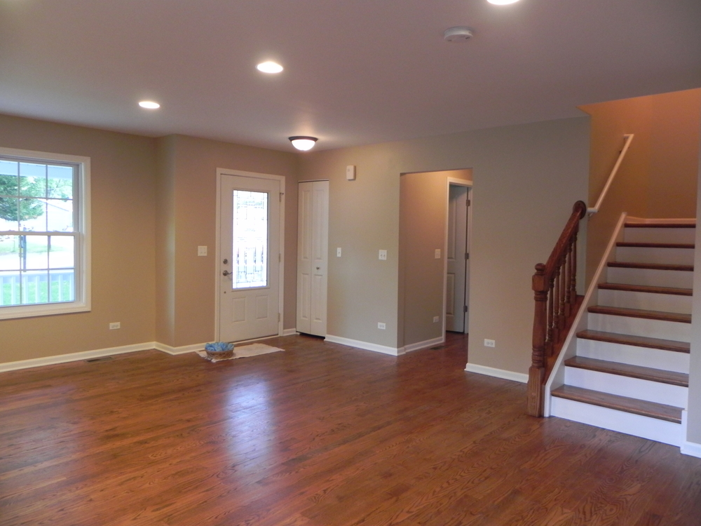 New construction family room in St. Charles
