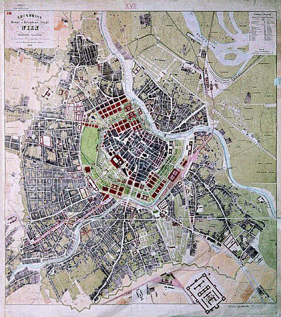 """The Ringstrasse Project ca. 1860. Image from  """"The Ringstrasse Period."""""""