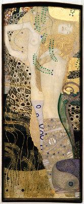 Gustav Klimt, Freundinnen (Wasserschlangen I), 1904-1907  Mischtechnik, Gold auf Pergament 50 x 20 cm