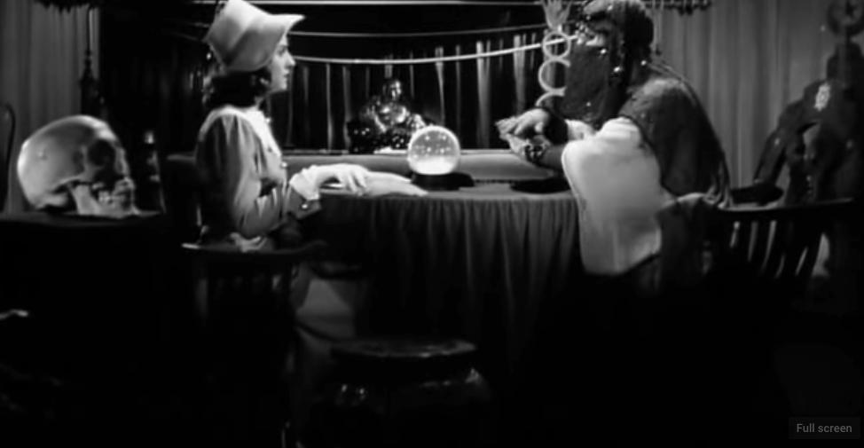 Screenshot from  The Crystal Ball  (dir. Elliott Nugent, USA, 2043)