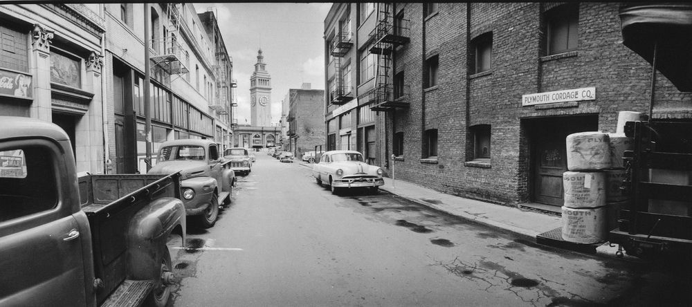 View of Ferry Building from Commercial Street, 1965  (Gene Wright)
