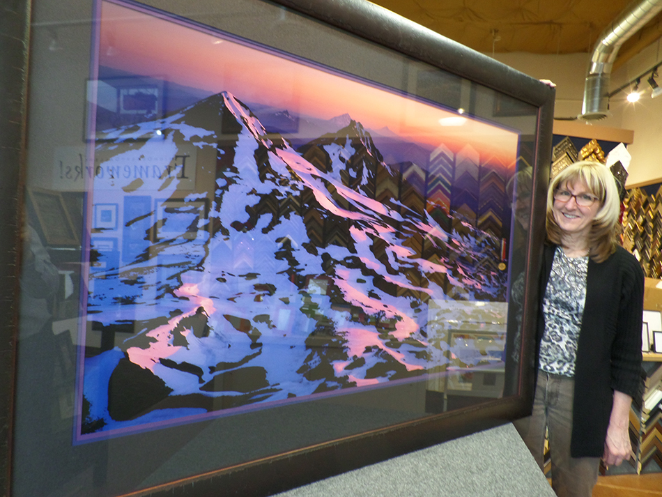 Signed Original Mike Putnam photograph with custom framing donated by Myrna Dow of High Desert Frameworks!
