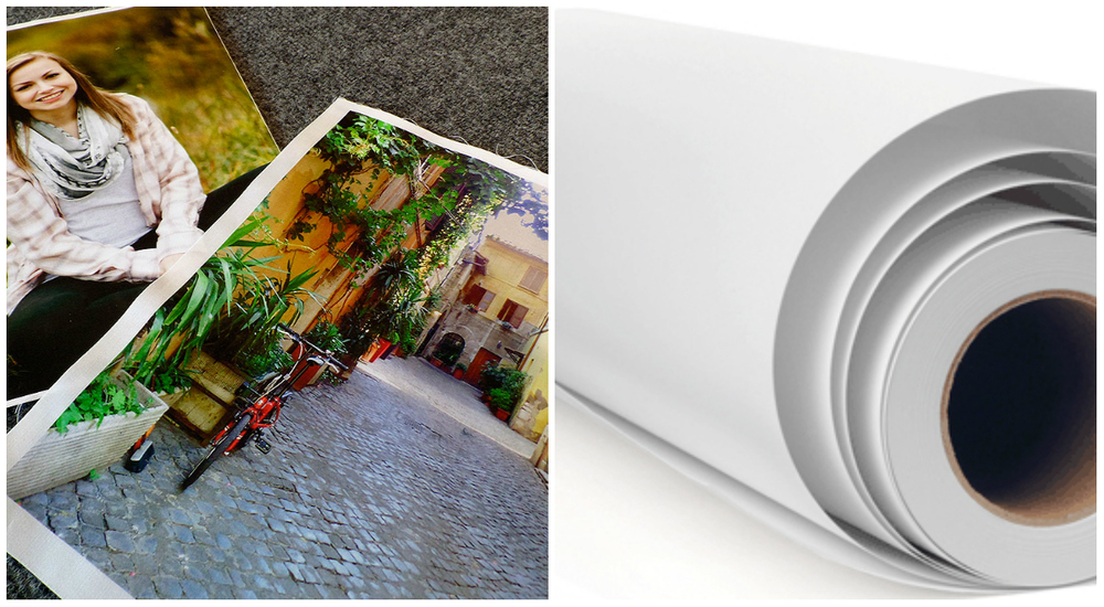 Left Image - Digital images printed on cotton sateen fabric.   Right image -- Roll of fabric ready for your project!