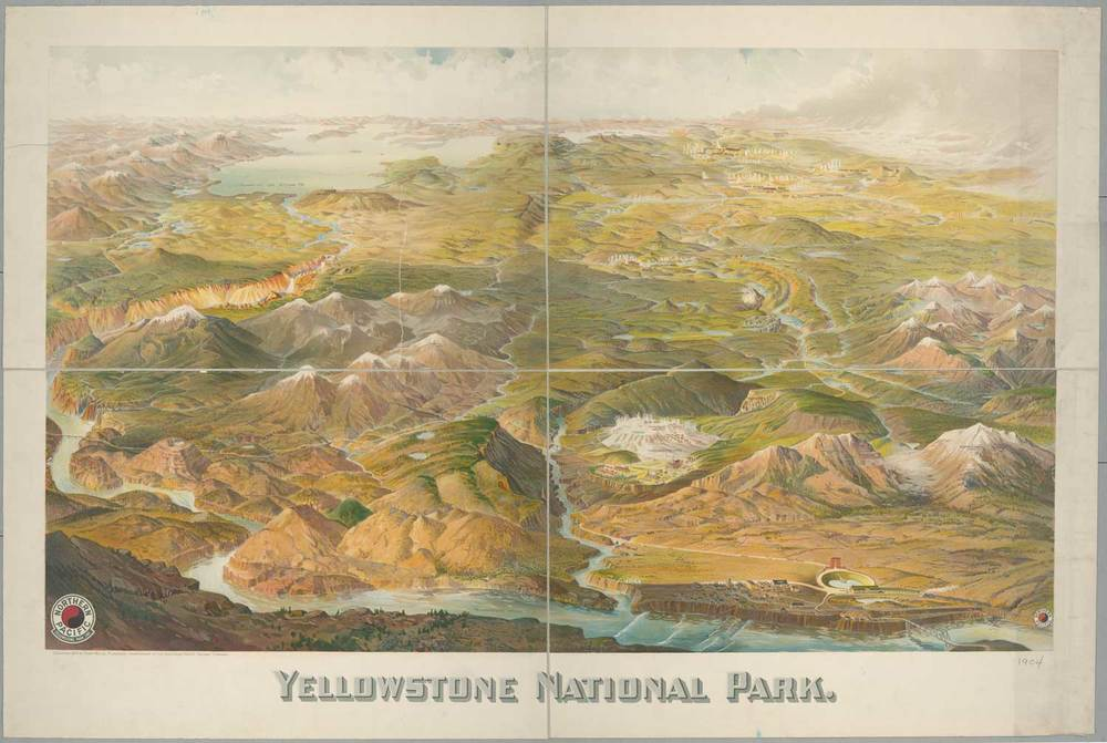 Yellowstone National Park Map - 1904