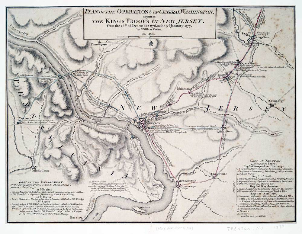 George Washington battle plans - December 1976 - January 1777