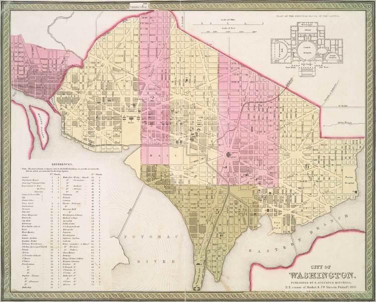 Fresh News: 1847 Washington DC historic map suitable for framing ...