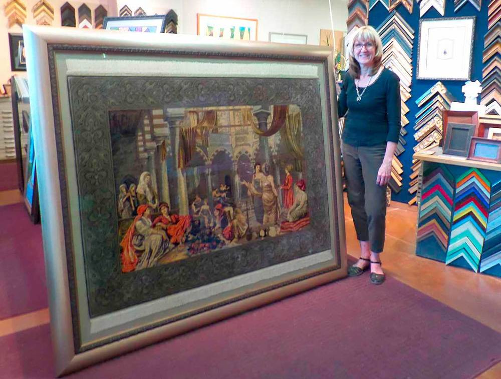 Custom Framing your vacation treasures (i.e. silk tapestry)