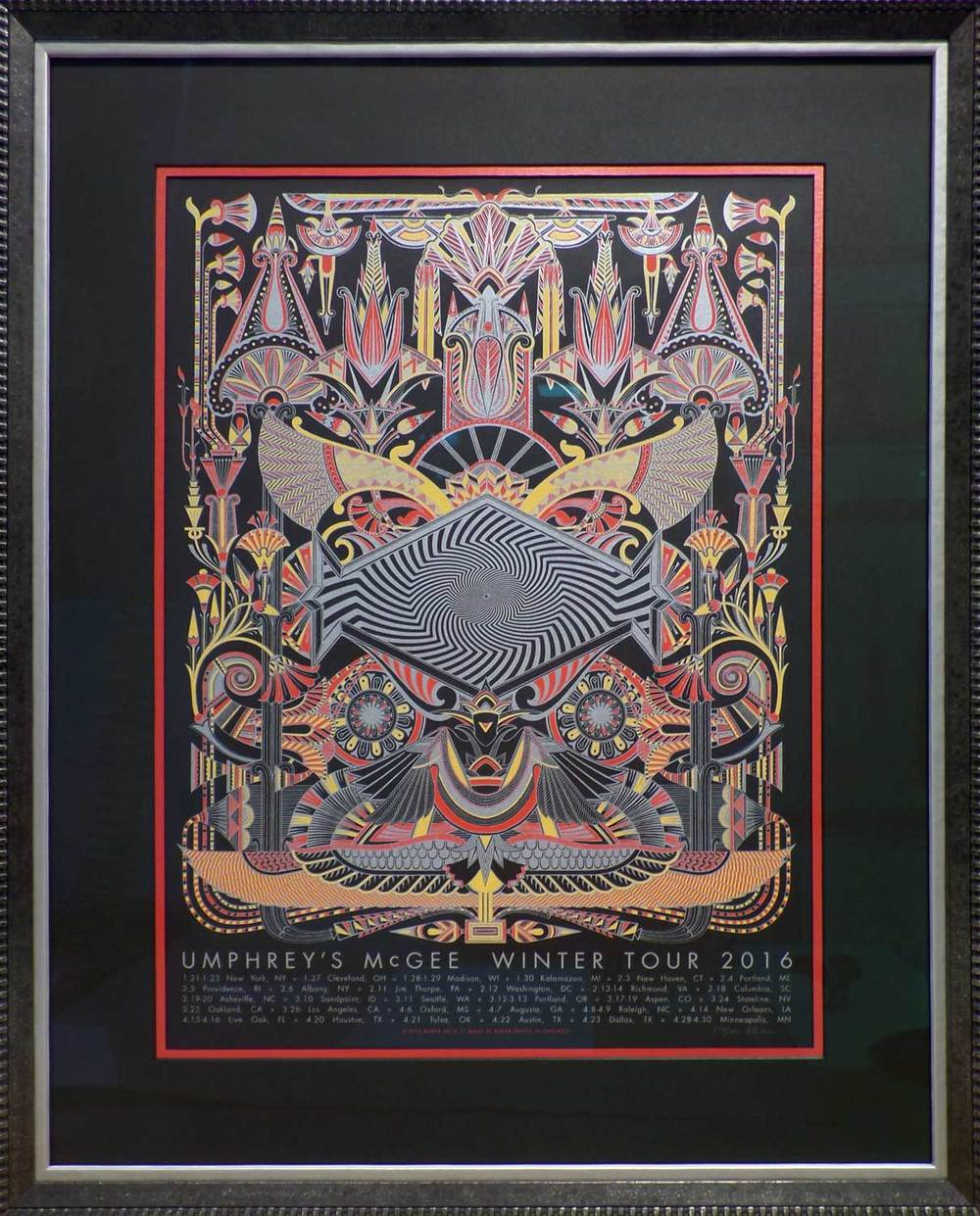 Tour Poster (signed and numbered) with Larson Juhl and Roma Frames