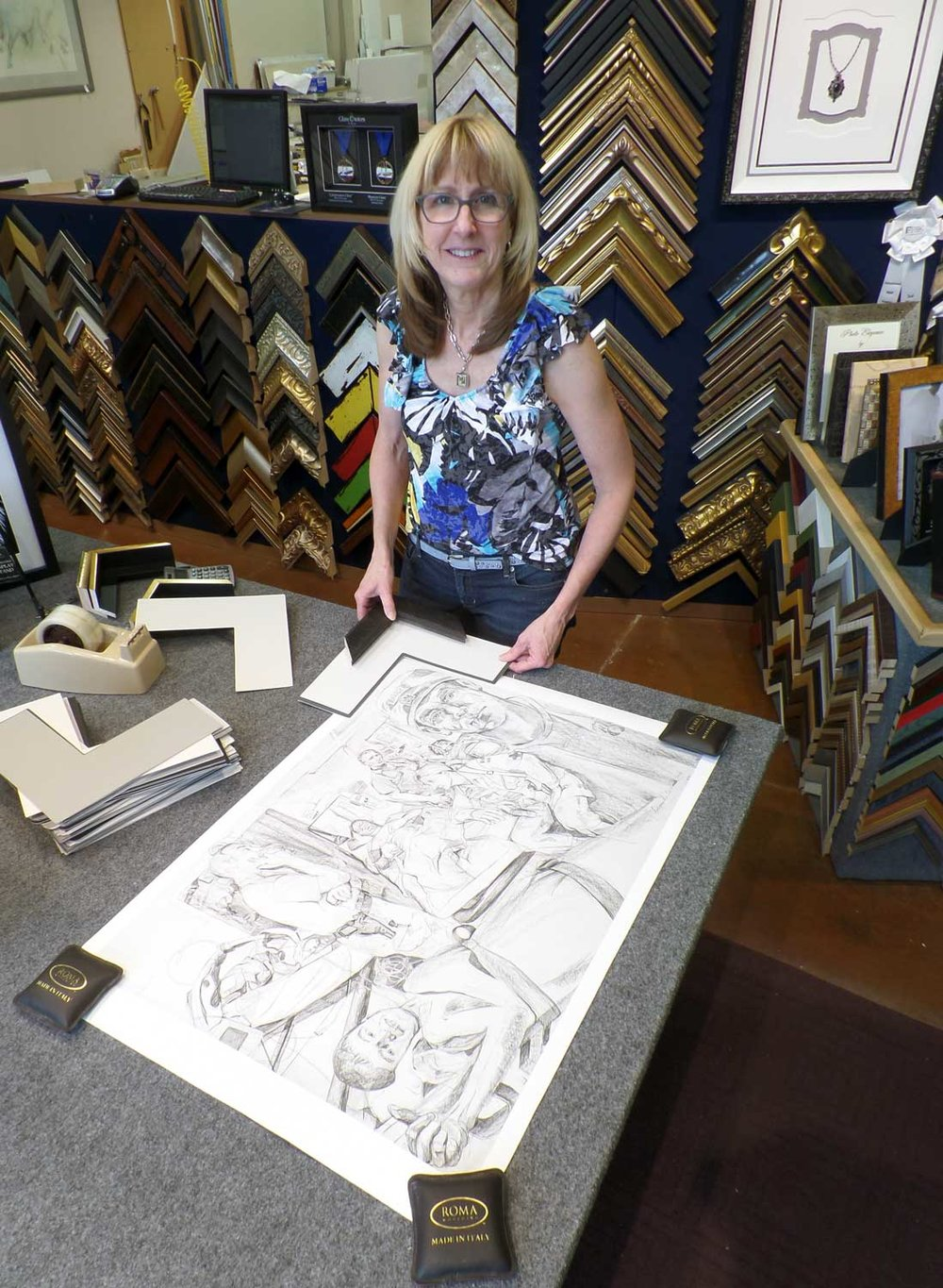 Fine Art Print by Gertrude Kearns.  Myrna Dow of High Desert Frameworks considers custom framing options.