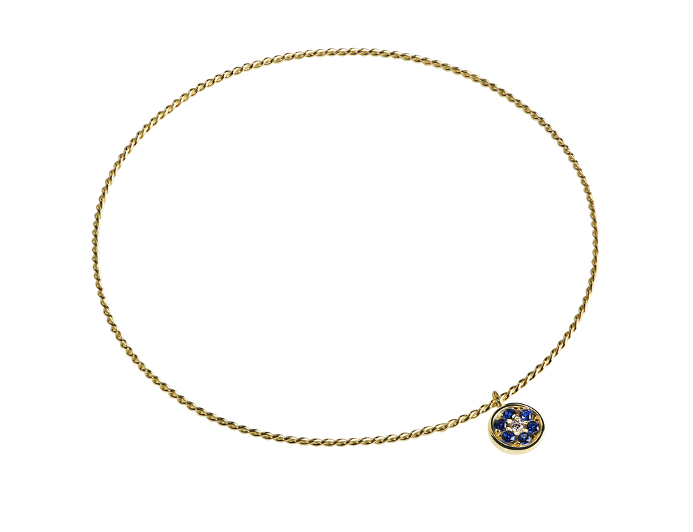 GB2002-14K Purification Bracelet- Evil Eye