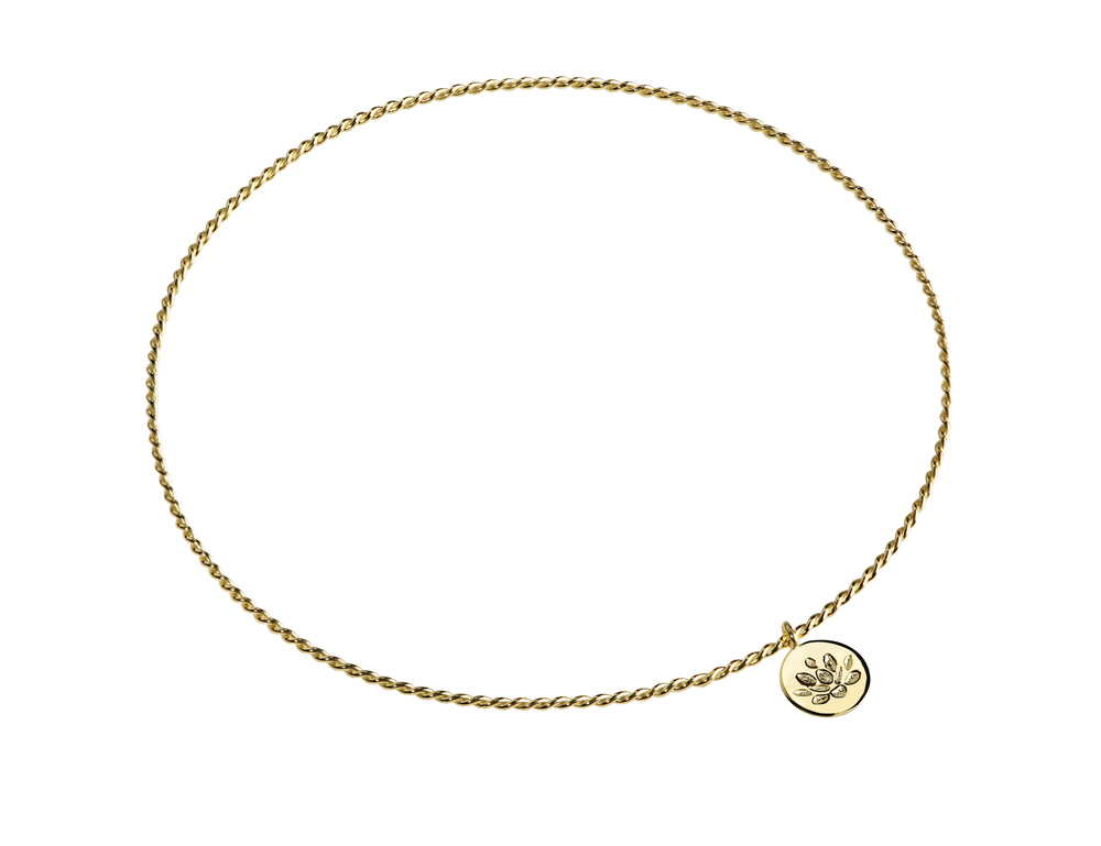 GB2004-14K Purification Bracelet- Lotus