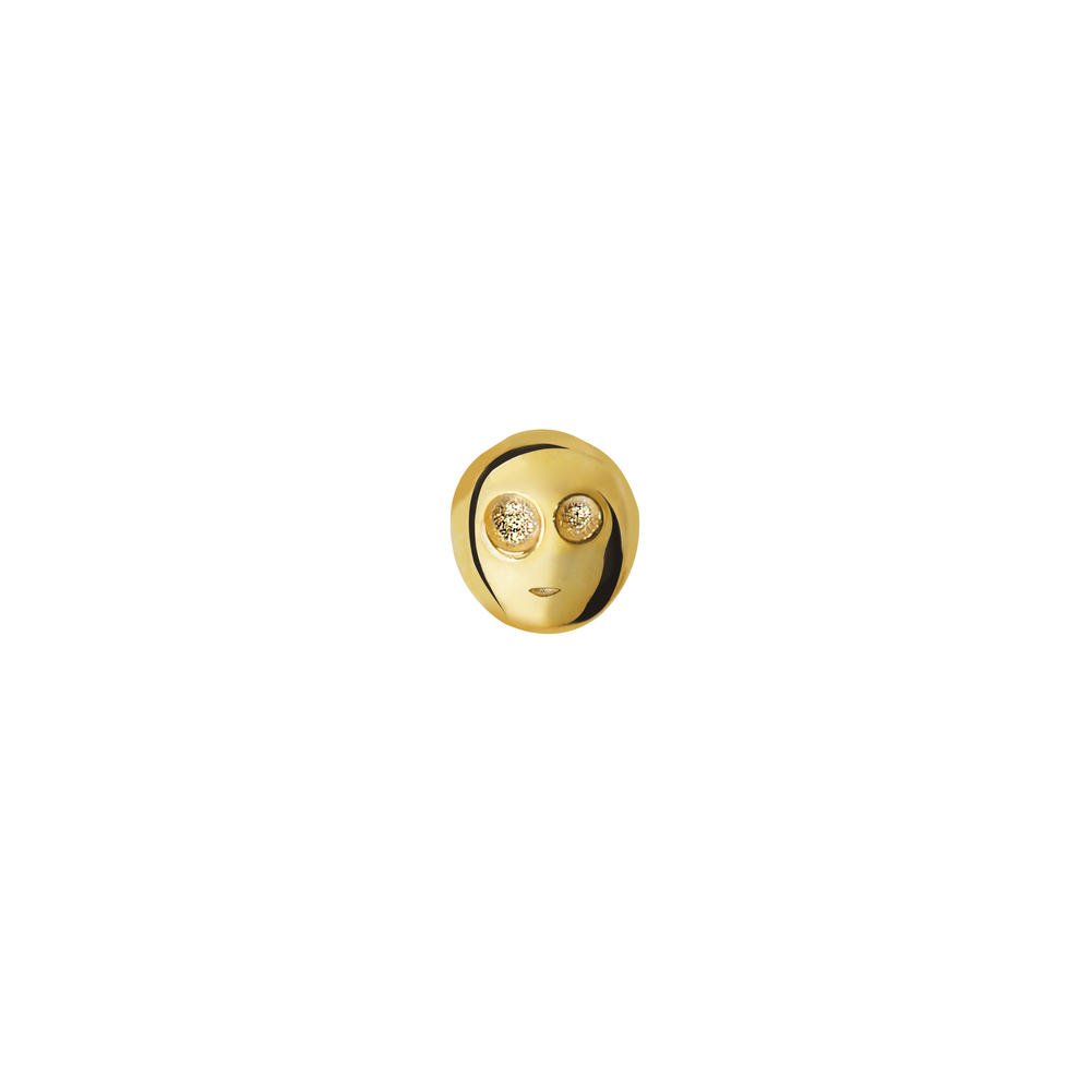 GE1001- 14K Spirit Earring- Happiness (Front side)