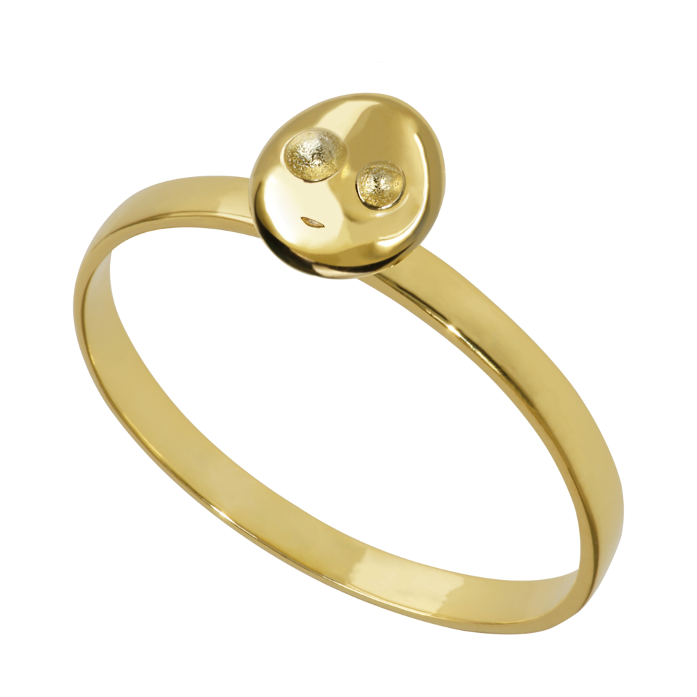 GR1001- 14K Spirit Ring- Happiness  (different sizes available)