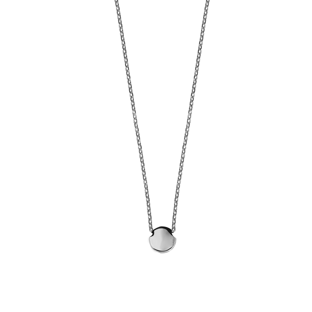 GN4001- 14K Happy New Year Lentil Necklace- White Gold (adjustable length)
