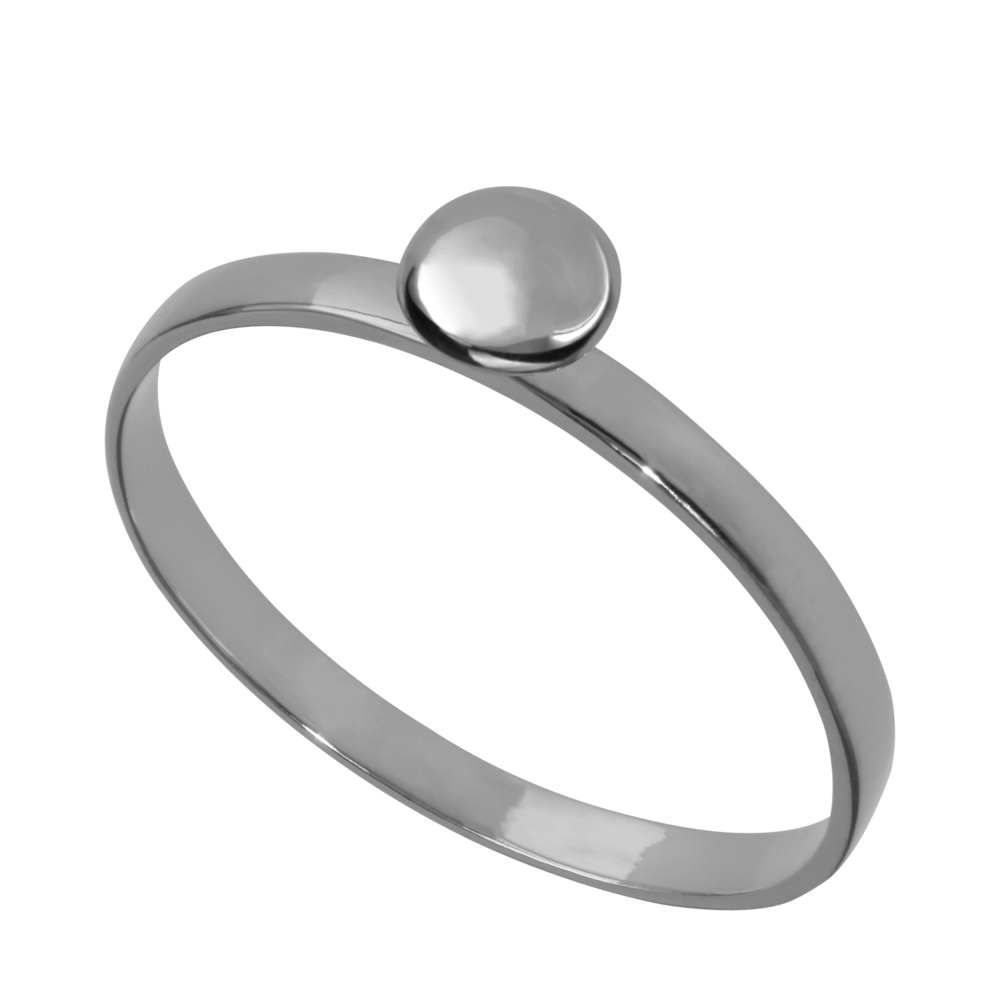 GR4001- 14K Happy New Year Lentil Ring- White Gold (different sizes available)
