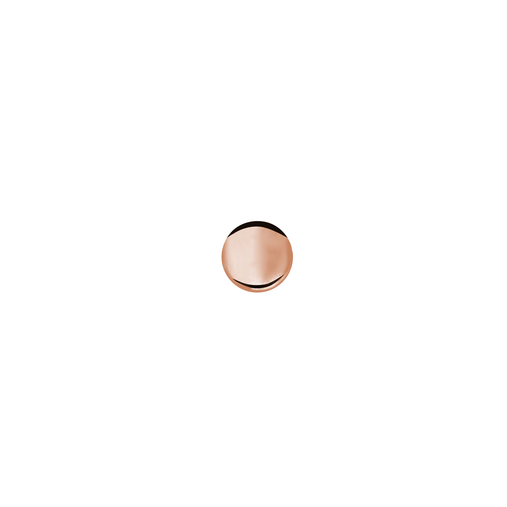 GE4001- 14K Happy New Year Lentil Earring- Pink Gold (Front side)