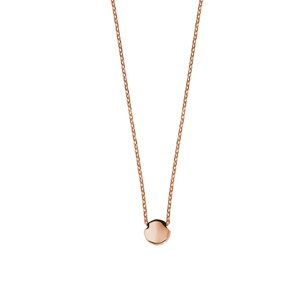 GN4001- 14K Happy New Year Lentil Necklace- Pink Gold (adjustable length)