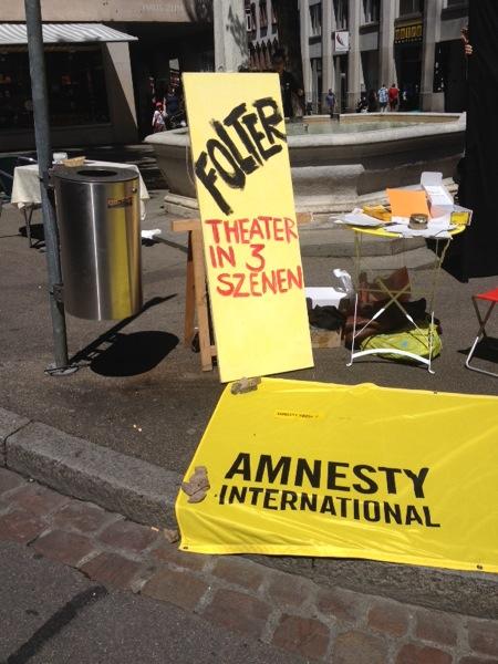 Amnesty Anti-Folter Strassentheater 24. Mai 2014.