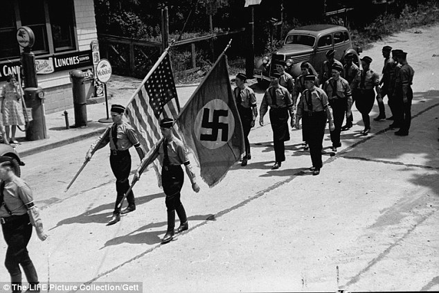 Yaphank Long Island, NY Nazi Parade near Camp Siegfried