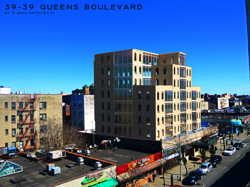 Queens boulevard M.Arch Architects designed building located in Queens Boulevard intended to a residential or a commercial use.