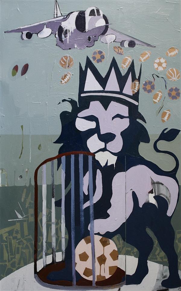 Rain Balls, 2011, 62x38.5, acrylics, oils, enamels on canvas.