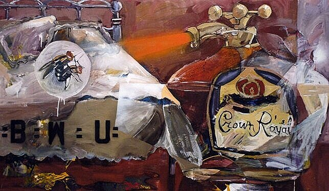 Crown Royal*, 2005, 52 x 88 ins, acrylics, oils, and enamels on canvas. Av.