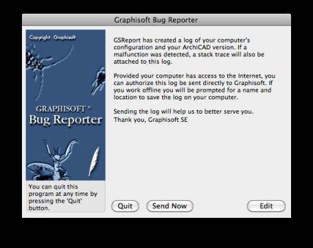 GRAPHISOFT Bug Report