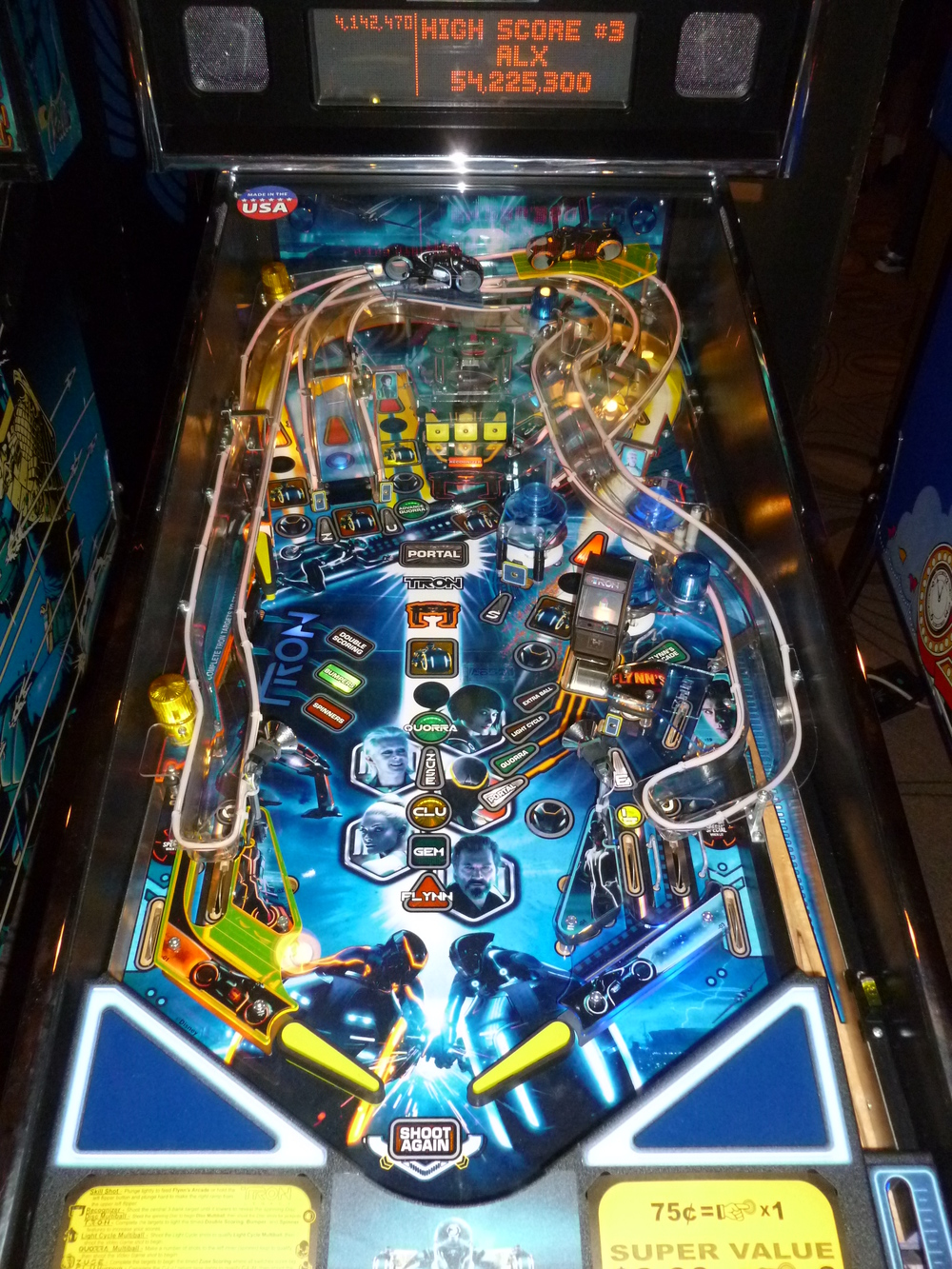 Detail of the Tron Legacy playfield.JPG
