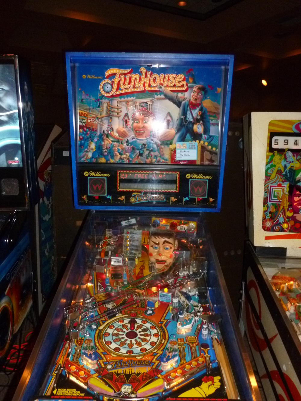 FunHouse, a classic Williams machine featuring the voice of Ed Boon of Mortal Kombat fame.JPG