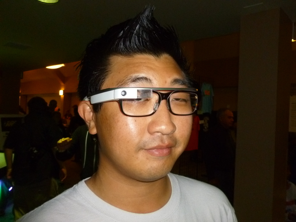 Another Google Glass sighting.JPG