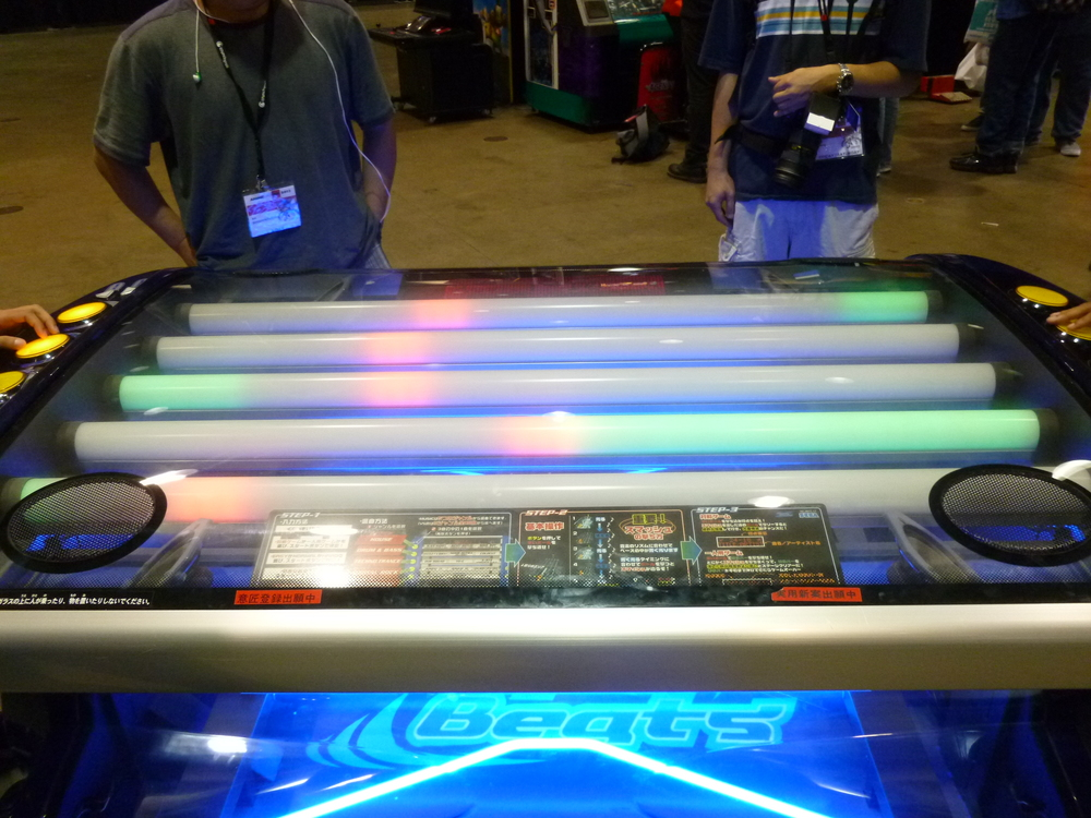 One of the more interesting games at the AX Arcade, Flash Beats.JPG