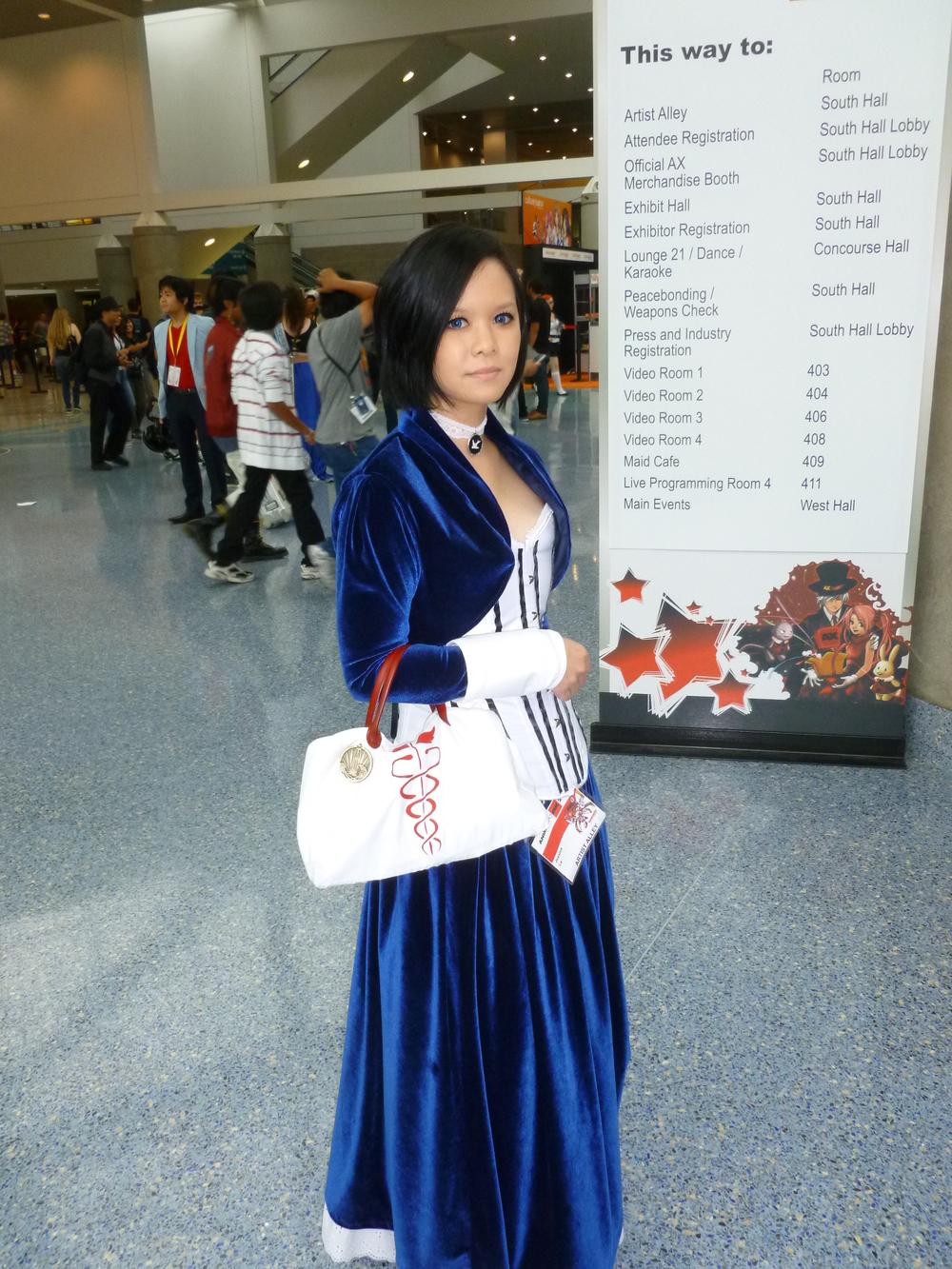 Cosplayer dressed as Elizabeth from Bioshock Infinite.JPG