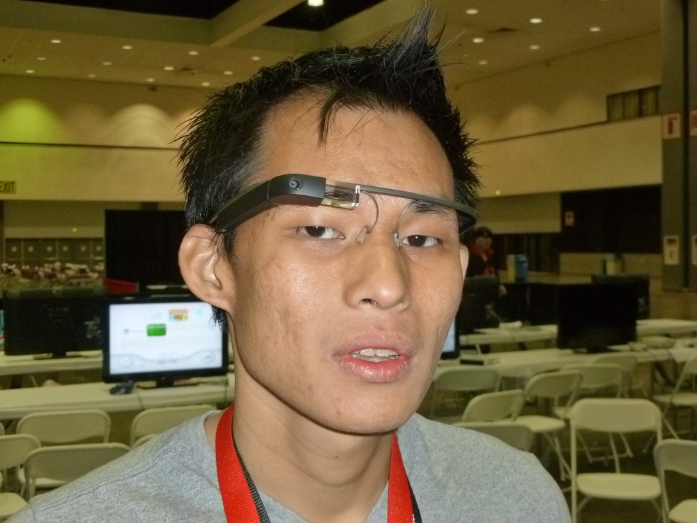 Saw this guy wearing a Google Glass thing, looked pretty cool.JPG