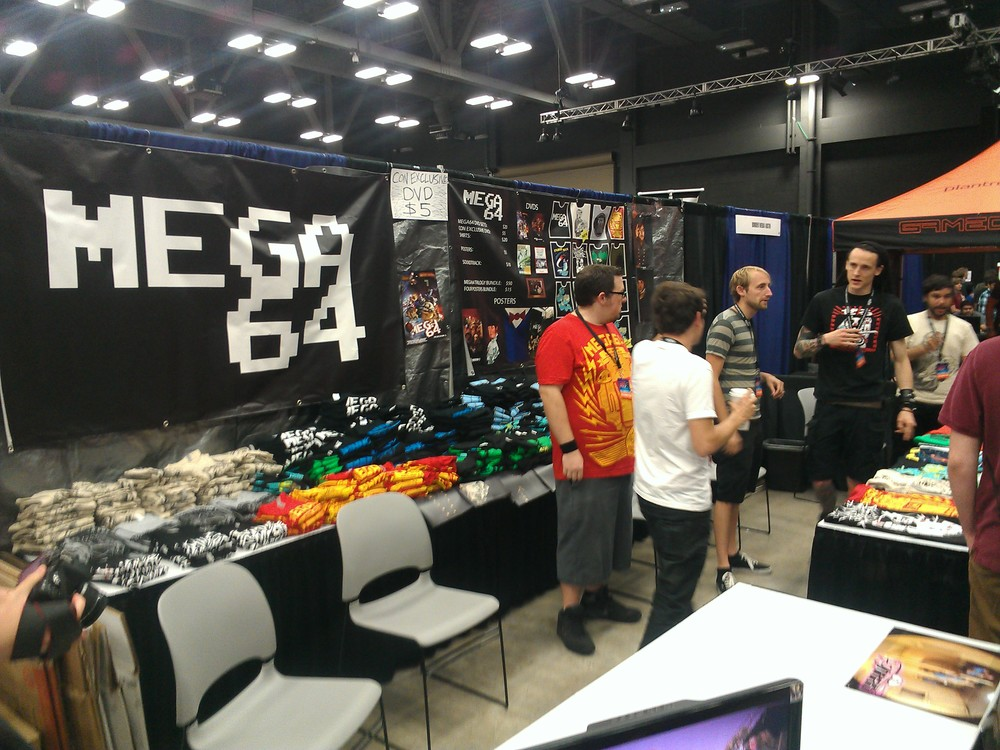 The MEGA64 booth.