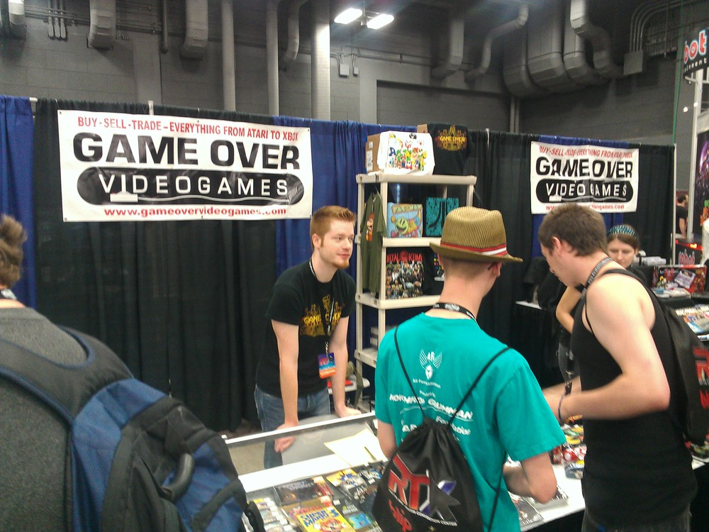 The Game Over booth.