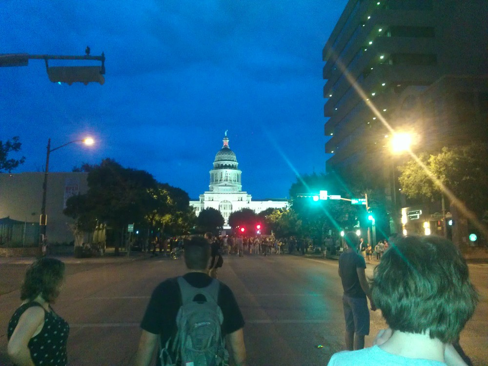 The State Capital building when we first arrived.