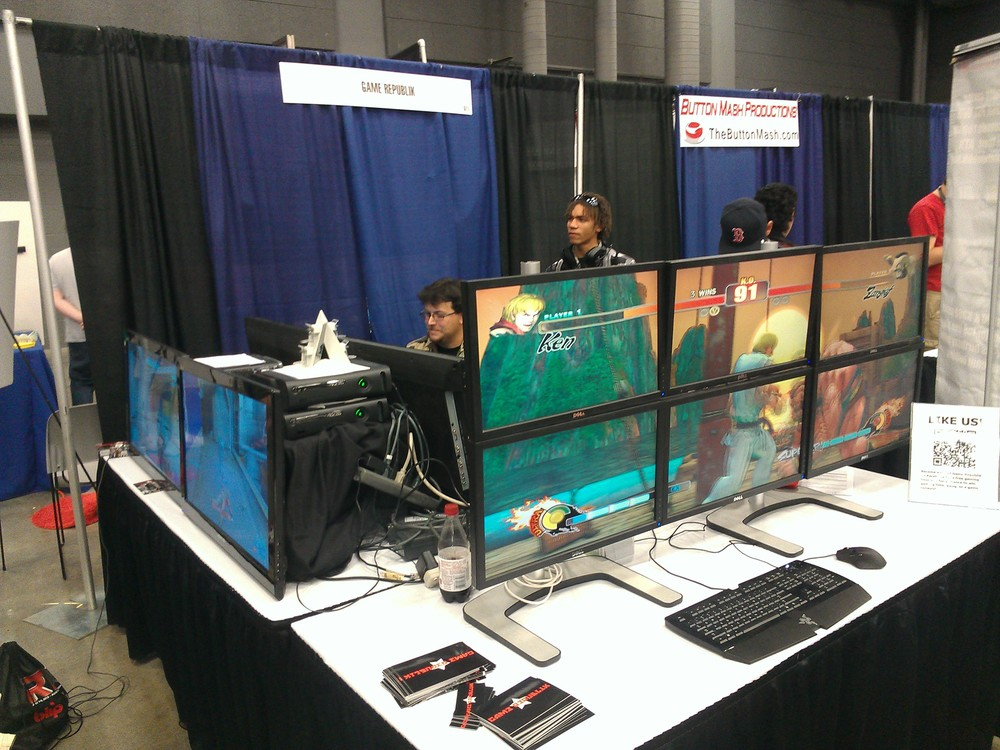 The local Austin-based GameRepublik booth.