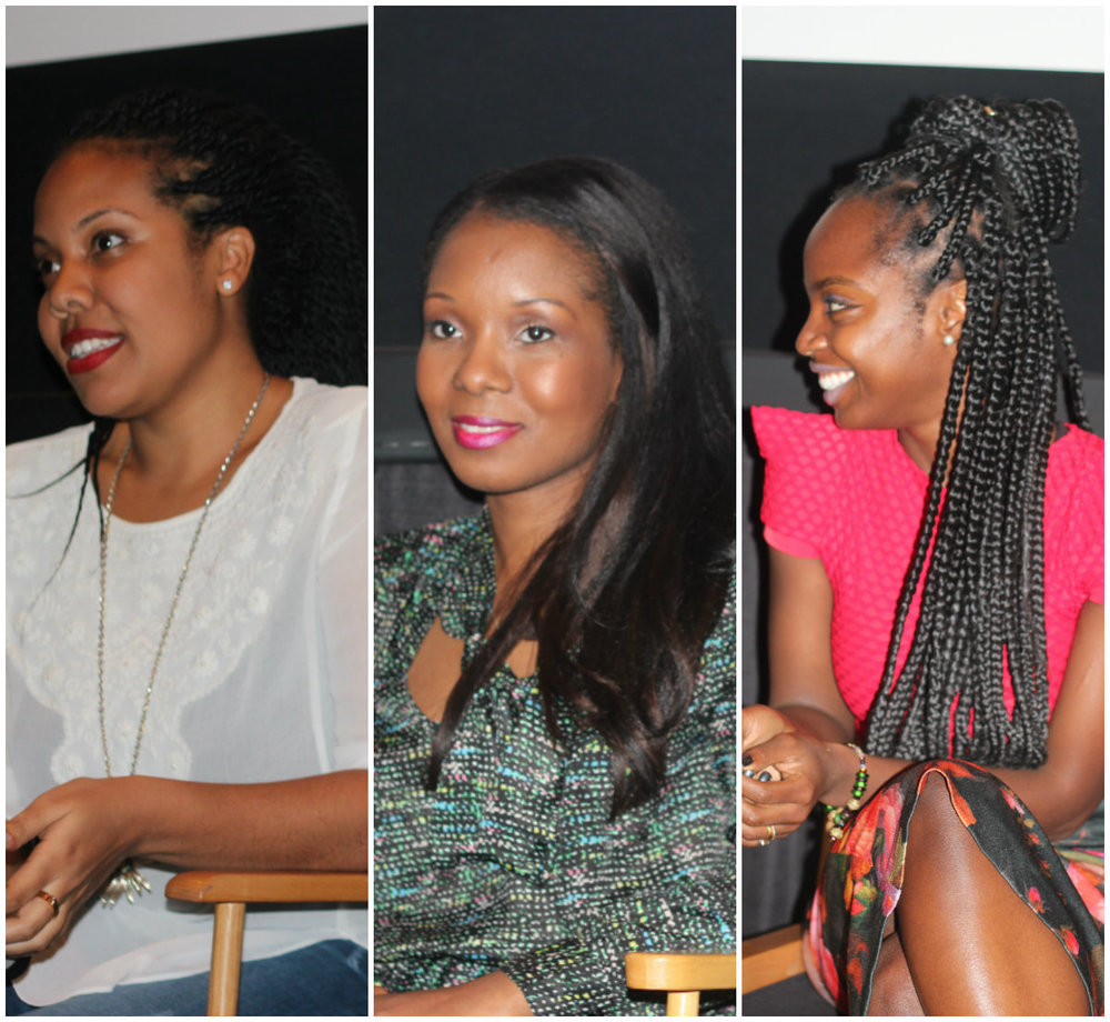 From L to R: NICOLE  AMARTEIFO: Executve Producer, Director,Creator and Writer, MILLIE MONYO: Executive Producer MAAMEYAA BOAF: Actress (NanaYaa)