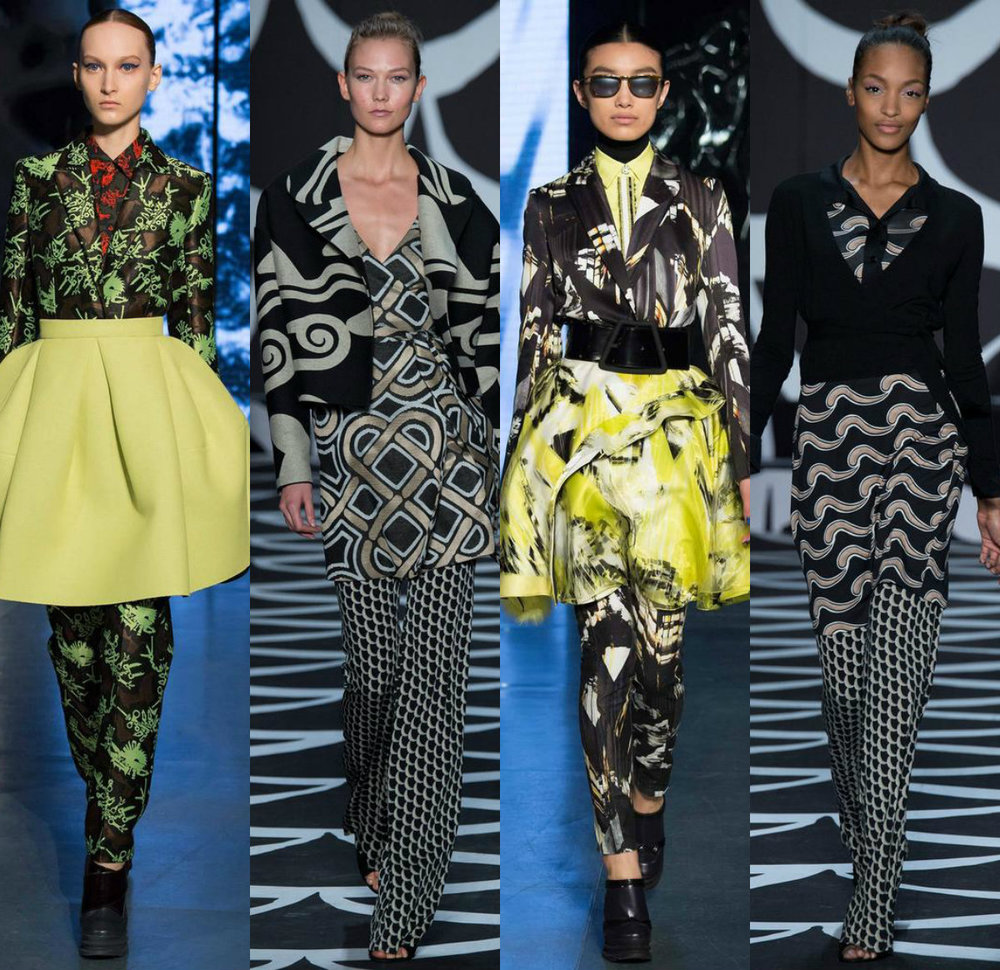 Looks 1 and 3 KENZO, Looks 2 and4 Diane Von Furstenberg