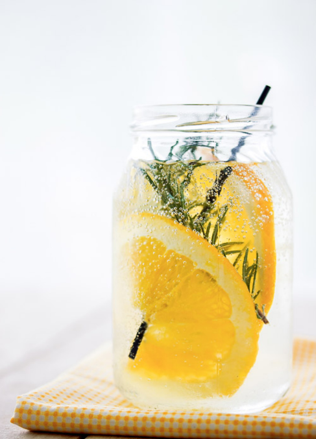 Orange and Rosemary water
