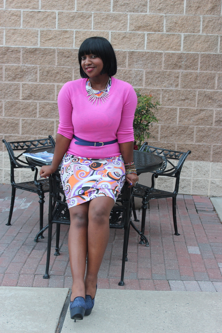 2012 - Rocking an original Roshie Anne dress. Upping my pose game to Tyra Banks status.