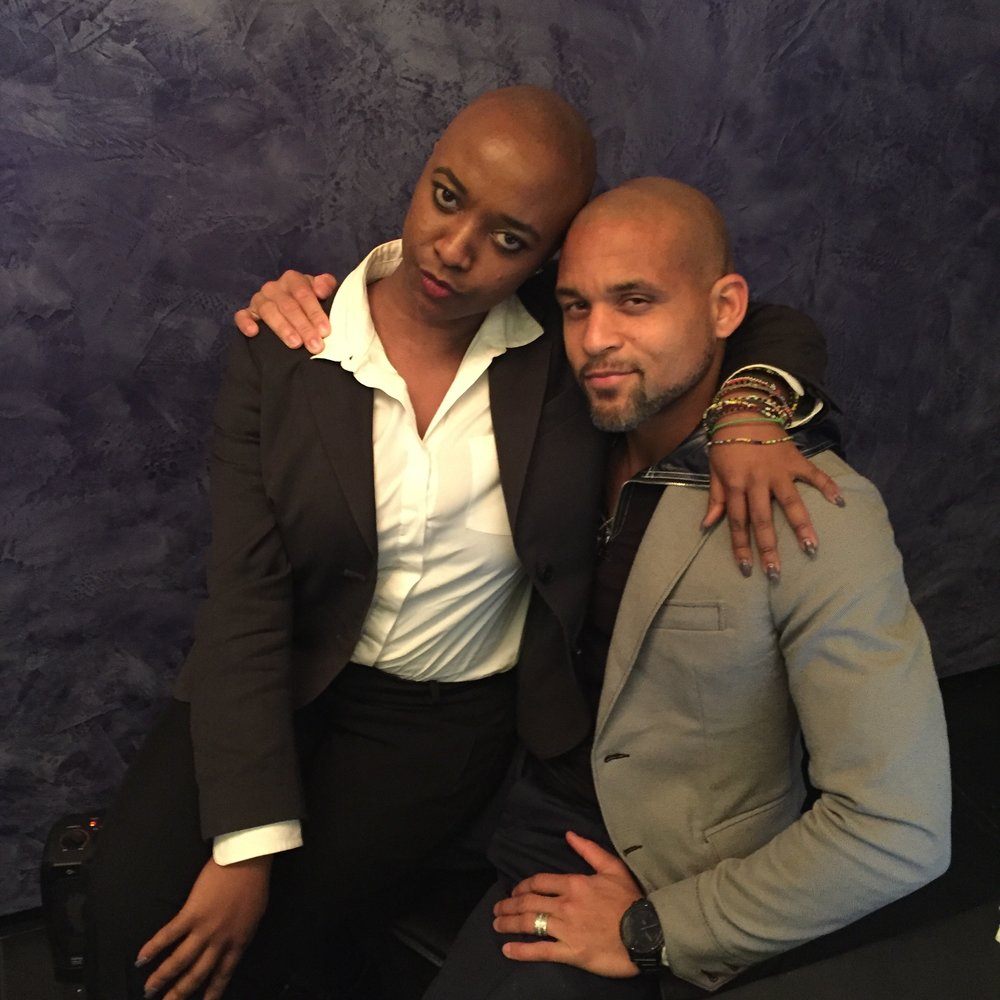 SERVING FACE WITH SHAUN - T - After nearly expiring by doing Insanity workouts, I get to meet Shaun T!! Year was made!!