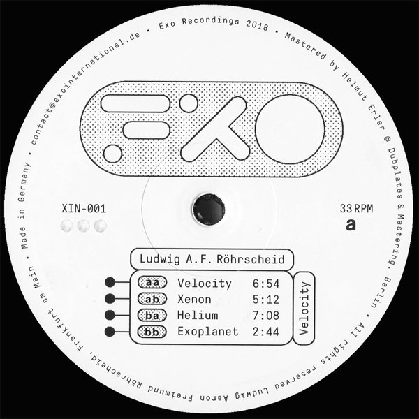 Ludwig A.F. Röhrscheid: Velocity (Exo Recordings International)