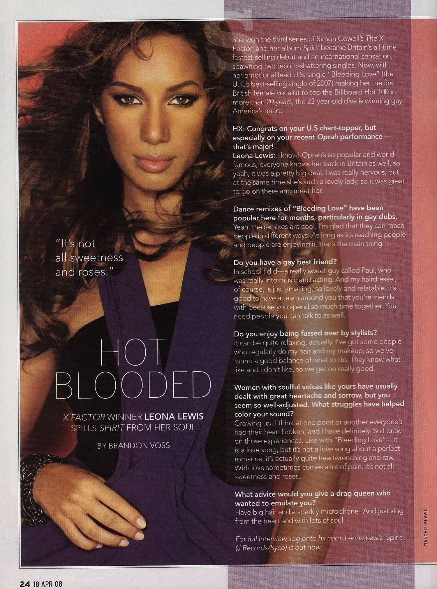 Leona Lewis: Hot Blooded — Brandon Voss