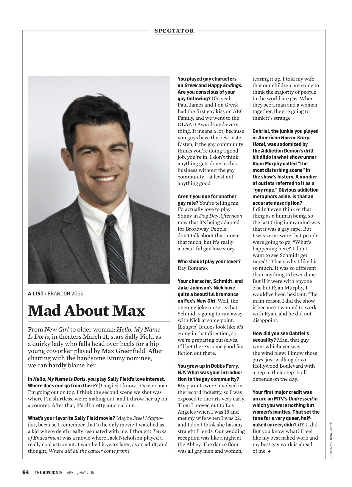 Max Greenfield: Mad About Max — Brandon Voss