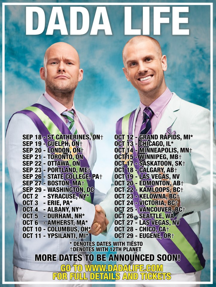 Dada Life North American Tour 2012